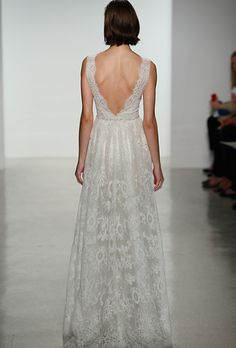 Brides.com: 25 New Wedding Dresses with Statement Backs. Wedding dress by Christos  See more wedding dresses from Christos's Spring 2015 collection.