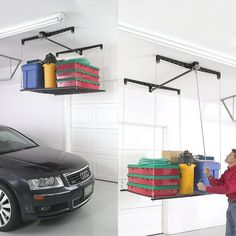 Racor Cable-Lifted Storage Rack - $124