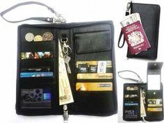 Passport Leather Case UnBox Reviewed - For storing keys boarding pass de...