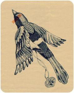 Piccsy :: magpie tattoo design