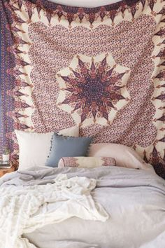 Indian-Hippie-Wall-Hanging-Mandala-Tapestry-Dorm-Throw-Ethnic-Bedspread-Decor