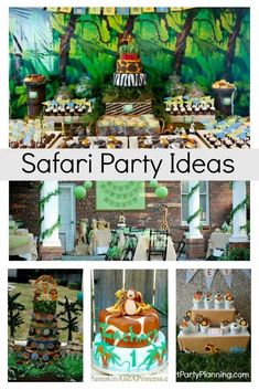 Head deep into the jungle with this collection of simple Safari party ideas. The kids will love the fun and playful party decoration. There are plenty of ideas that are easy to incorporate with a little DIY planning. Winter Birthday Parties, Birthday Party Themes, Safari Party Foods, Theme Ideas, Decor Ideas, Cheetah Party, Creative Party Ideas, Party Themes For Boys, Colorful Party