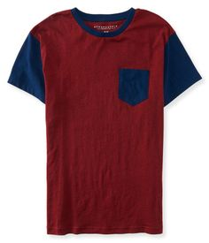 """If you're a pro at keepin' it casual, you need the laid-back look of our Flecked Pocket Tee to complement your chill attitude! Mellow out day and night in this comfy shirt, which features cool flocked fabric and bold colorblocked sleeves. A chest pocket adds a traditional detail for a solid finish.<br><br>Authentic fit. Approx. length (M): 28.5""""<br>Style: 7820. Imported.<br><br>100% cotton.<br>Machine wash/dry."""