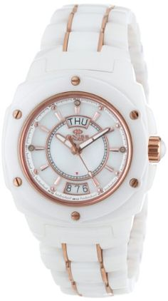 Oniss Paris Women's ON436-LRG WHT Galaxy Swiss Quartz Mother-Of-Pearl Dial Rosetone Watch >>> Learn more by visiting the image link.