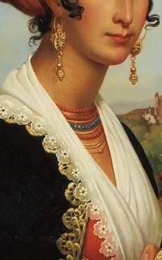Jean Guillaume Elsidor Naigeon French, 1797-1867 Portrait of a Young Woman of Ischia, 1829