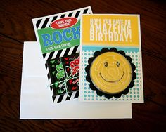 Printable birthday cards for kids (keeping this handy for the next party they have to go to) #moms