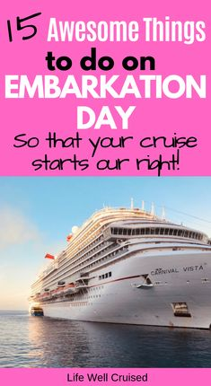 Don't make the mistakes many first time cruisers make! These 15 embarkation day cruise tips will help you to make the most of your first cruise vacation day and start the cruise off right… Bahamas Cruise, Cruise Port, Cruise Travel, Cruise Vacation, Disney Cruise, Honeymoon Cruise, Vacation Packing, Vacation Outfits, Shopping Travel