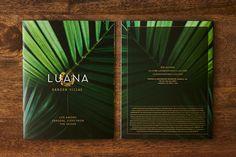 Luana by PowerPlay Destination Properties - Free Agency Creative Garden Villa, Print Design, Graphic Design, Brochure Design, Vancouver, Typography, Branding, Creative, Free