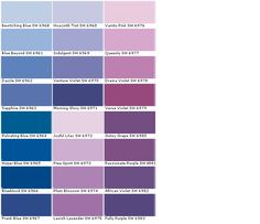 Sherwin Williams Sw6964 Pulsating Blue Sw6965 Hyper Sw6966 Blueblood Sw6967 Frank Sw6960 Bewitching Purple Color Chartpaint