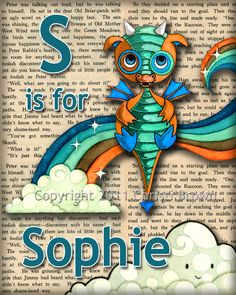 Baby Dragon Nursery Decor Personalized Name Print Recycled Paper 5 x 7 inches Dragon Baby Shower, Baby Dragon, Nursery Art, Nursery Decor, Nursery Ideas, Bedroom Decor, Dragon Nursery, How To Train Your Dragon, Kids Decor