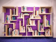 Modern Bookcase Designs | LIbrary design, Awesome Bookcase Design Unique Shape: awesome modern ...