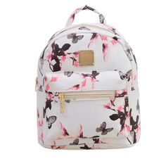 Women Backpack 2016 Hot Sale Fashion Causal Floral Printing Backpacks PU Leather Backpack For Teenagers Girls Mochilas Hot Sale