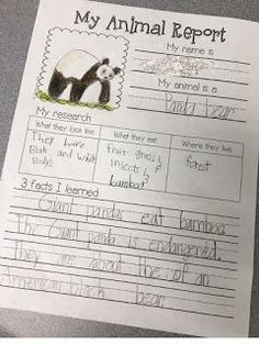 Animal Research Projects (What the Teacher Wants!) Animal reports are a fun way to get young students excited about doing research. Today I wanted to show how I differentiate my animal research unit for kindergarten all the way up through fourth grade Research Writing, Work On Writing, Writing Workshop, Teaching Writing, Writing Activities, Writing Process, Report Writing, Writing Lessons, Educational Activities For Preschoolers
