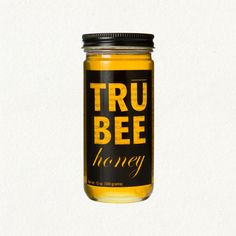 would tru bee my honey? Honey Packaging, Pretty Packaging, Food Packaging, Brand Packaging, Packaging Design, Honey Jar Labels, Honey Label, Honey Jars, Honey Logo