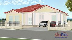 115E - Africplans Electrical Installation, Septic Tank, Roof Plan, Western Union, Open Concept, Cool Suits, House Plans, Villa, Floor Plans
