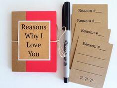 Reasons Why I Love You Book Boyfriend Gift Mini by SimplyyHandmade