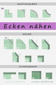 Ecken nähen – So geht's Sewing Corners – That's How It Works (Diy Crafts Clothes) Sewing Patterns Free, Free Sewing, Afghan Patterns, Amigurumi Patterns, Knitting Patterns, Sewing Hacks, Sewing Tutorials, Sewing Crafts, Sewing Tips