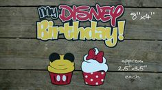 Check out this item in my Etsy shop https://www.etsy.com/listing/477040392/disney-themed-birthday-scrapbooking