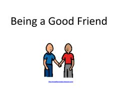 Being a Good Friend . Free Social story