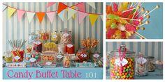 Party Ideas, Candy Bar, Candy Buffet