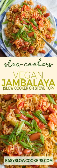 VEGAN JAMBALAYA – SLOW COOKER OR STOVE TOP