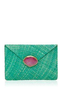 Green Capri Clutch by KAYU for Preorder on Moda Operandi