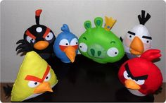 Angry Birds em feltro | Nina e Mone | 356FF6 - Elo7