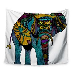 Elephant of Namibia by Pom Graphic Design Wall Tapestry   Wayfair