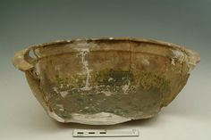 Bowl Production Date: Late Medieval; mid 14th-15th century Measurements: H 124 mm; DM (rim) 347 mm Materials: ceramic; earthenware