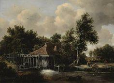 Meindert Hobbema Een watermolen 1664; Olieverf op paneel; 62 x 85,5 cm