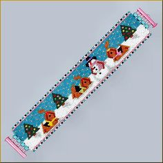 A Yorkie Christmas even-count peyote Pattern by Kristy by Kristyz