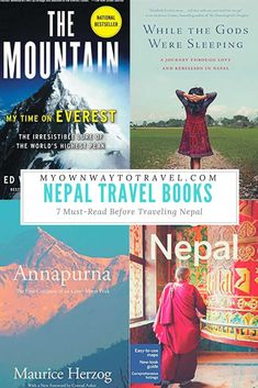 Book lovers around shouldn't miss reading some listed travel books on Nepal. These books will surely allure you to visit this adventurous land. Travel Movies, Travel Books, Travel Literature, Good Books, Books To Read, Ways To Travel, Travel Advice, Travel Tips, Travel Destinations