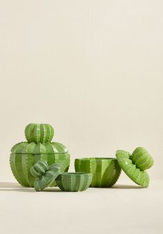 A Cacti Affair Ceramic Canister Set