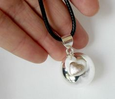Silver Pregnancy necklace Mexican Bola necklace by DivineDecadance, $35.00