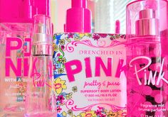 Victoria's Secret or perfume period! Pink Love, Vs Pink, Pretty In Pink, Victoria Secret Outfits, Victoria Secrets, E 500, Pink Perfume, Victoria Secret Fragrances, Just Girly Things