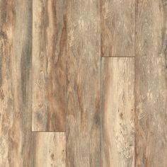 Pergo Portfolio 7.48-in W x 3.93-ft L Barnwood Oak Embossed Wood Plank Laminate Flooring