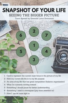 Enjoy this free tarot spread any time you're looking to see a snapshot of what's going on in your life. For more spreads visit: http://emeraldlotus.ca/?utm_content=buffer15fcf&utm_medium=social&utm_source=pinterest.com&utm_campaign=buffer