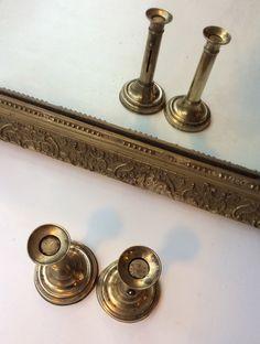 kupariset säädettävät kynttilänjalat 1800 luvulta . korkeus 19cm . 2kpl
