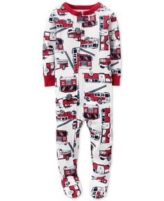 Carter s Baby Boys  1-Pc. Firetruck-Print Footed Pajamas Carters Baby Boys 9161634c2