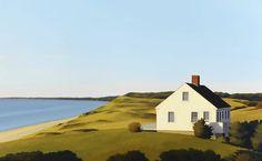 Jim Holland (1955 - Present), American Artist - Hopper House - This work is Holland's homage to 19th Century artist Edward Hopper