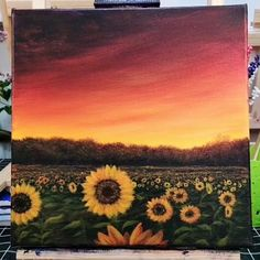 Zeichnen How to Paint Sunflower Field /Acrylic Landscape Acrylic Painting Ideas acrylic acrylic painting ideas Field Landscape Paint Sunflower Zeichnen Easy Canvas Art, Small Canvas Art, Canvas Canvas, Acrylic Art, Acrylic Painting Canvas, Painting Art, Sunflower Canvas Paintings, Oil Paintings, Body Painting