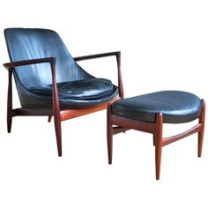 "An ""Elizabeth"" lounge chair and ottoman designed by Ib Kofod-Larsen and manufactured by Christensen & Larsen, ca. 1960. 17,500"
