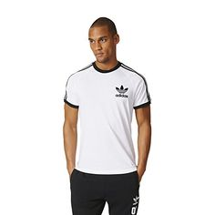 adidas Originals Mens California Tee White Medium ** You can find more details by visiting the image link. #MenFashion