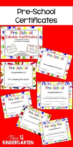 Kindergarten certificates completion diploma editable kindergarten pre school certificates say goodbye to your pre schoolers with these adorable certificates yelopaper Choice Image