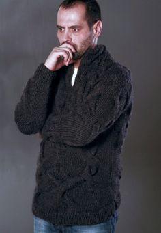 AQUA FORMEN 002 Alpaca sweater by NihanAltuntas on Etsy, $320.00