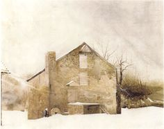 Andrew Wyeth - love his watercolor buildings