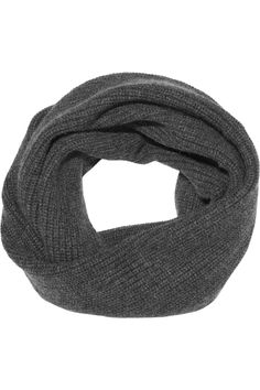 Ribbed-knit cashmere snood by N.Peal Cashmere