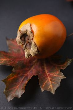Sensationally seasonal - persimmons baked into Persimmon Cranberry Crisp
