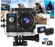 Indigi® Waterproof HD 1080p WiFi Outdoor Sports DV Cam Video Recording WiFi Feature - Remote Shutter & View From iPhone Android Phone -