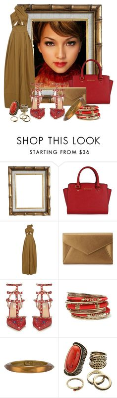 """""""Untitled #2839"""" by quitabaity ❤ liked on Polyvore featuring MICHAEL Michael Kors, Rosie Assoulin, Neiman Marcus, Valentino, Amrita Singh, Alexis Bittar and Gemma Simone"""